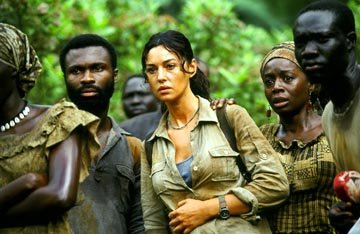 Monica Bellucci in Columbia's Tears of the Sun