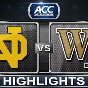 Notre Dame vs Wake Forest | 2014 ACC Men's Basketball Tournament Highlights