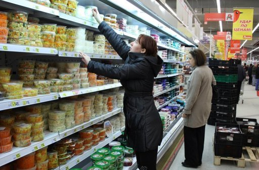 &lt;p&gt;Russian shoppers buy food at a supermarket in Moscow. Russia on Friday reported strong annualised growth of 4.0 percent while also signalling an imminent interest rate hike aimed at keeping one of Europe&#39;s strongest economies from overheating.&lt;/p&gt;