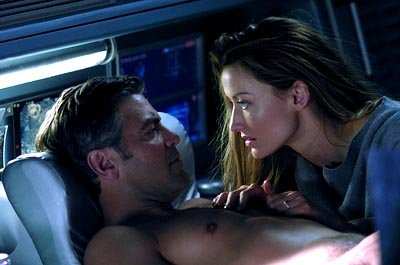 George Clooney and Natascha McElhone in 20th Century Fox's Solaris