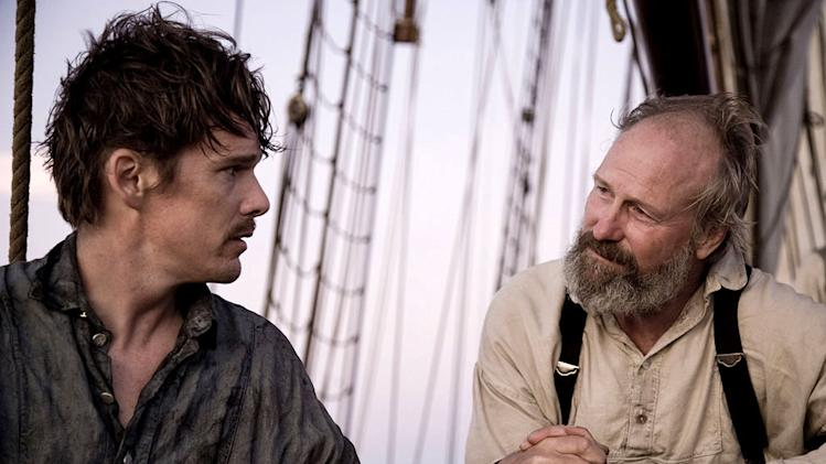 "Ethan Hawke as Starbuck and William Hurt as Ahab in ""Moby Dick."""