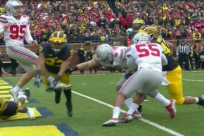 Ohio State scored a touchdown after a questionable Michigan roughing the punter penalty