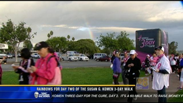 Rainbows for day two of the Susan G. Komen 3-Day walk