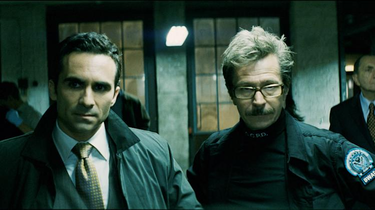 Nestor Carbonell Gary Oldman Batman The Dark Knight Production Warner Brothers 2008