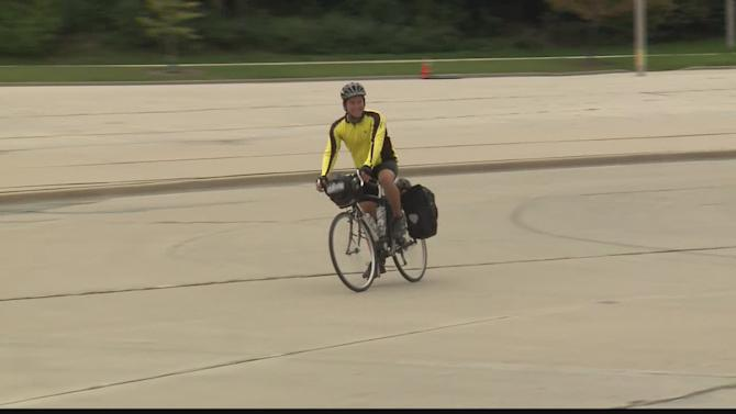 Man bikes thousands of miles raising money for Big Brothers, Big Sisters