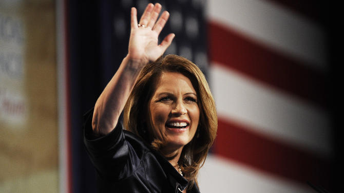 U.S. Representative and former Republican presidential candidate Michele Bachmann speaks at the CPAC Chicago's Conservative Political Action Conference at the Stephens Convention Center in Rosemont , Il. on Friday, June 8, 2012..(AP Photo/Daily Herald, Mark Welsh) MANDATORY CREDIT; MAGS OUT; TV OUT