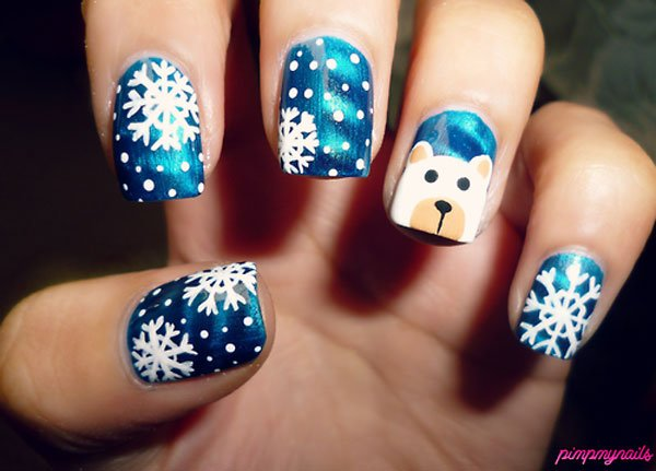 Best Christmas nail art © pimpmynails / tumblr