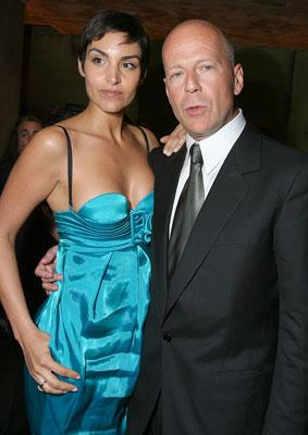 Paula Miranda and Bruce Willis at the New York premiere of Sony Pictures' Perfect Stranger