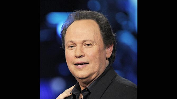 "FILE - In this April 6, 2008 file photo, Billy Crystal is shown at the ""Idol Gives Back"" fundraising special of ""American Idol"" in Los Angeles. Actor Billy Crystal has helped raise $1 million to rebuild a beach town on New York's Long Island hard-hit by Superstorm Sandy, Saturday, June 22, 2013. (AP Photo/Mark J. Terrill, File)"