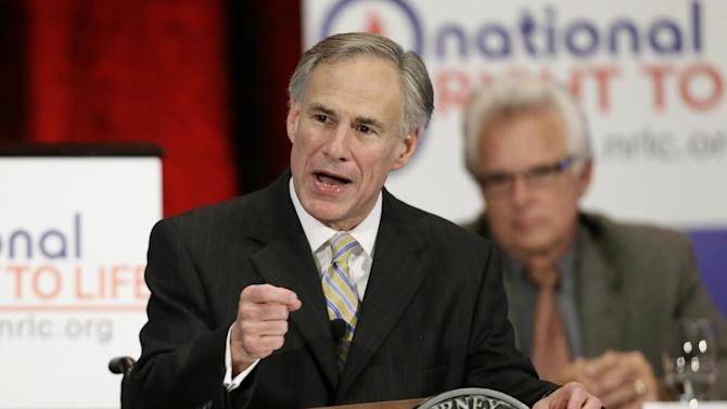 "FILE - In this June 27, 2013 file photo, Texas Attorney General Greg Abbott delivers comments at the 43rd Annual National Right To Life Convention in Grapevine, Texas. For Republicans eager to lead Texas after Gov. Rick Perry finally steps aside in 2014, there's one easy way to describe their campaign blunders so far: Oops. Abbott, the early favorite to replace Perry, thanked a supporter who tweeted that likely Democratic challenger Wendy Davis was a ""retard Barbie."" Top Abbott strategist Dave Carney, who ran Perry's failed White House bid in 2012, himself tweeted the headline of an article that said Davis was ""too stupid"" to be governor. Unforced errors by GOP front-runners to replace Gov. Rick Perry, when he steps aside in 2014 have given Texas Democrats, a little hope in winning a statewide office for the first time in 20 years. But as they wait for Davis' expected Oct. 3 announcement that she will run, they're left without a candidate to pounce on their rivals' missteps. (AP Photo/Tony Gutierrez)"