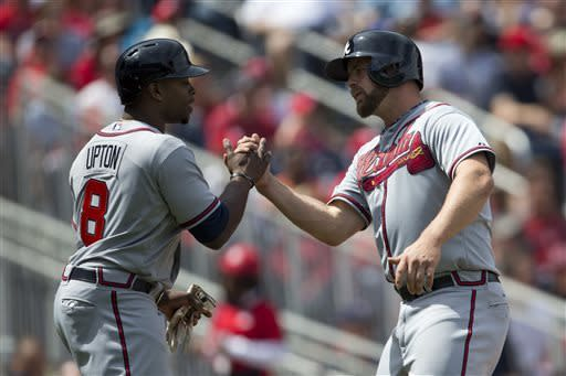 Justin Upton, Braves beat Nats for 9th win in row