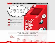 The website of Puma's Bring It Back program