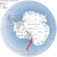 The location of Garwood Valley in Antarctica.