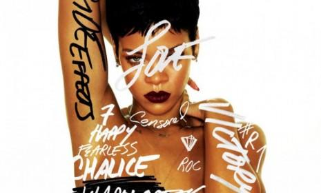 The cover to Rihanna's new album, Unapologetic: Among the things the singer appears unapologetic about? Getting back together with her abusive ex, Chris Brown.