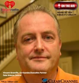 Co-Founder/Executive Partner Vincent Granville of Data Science Central to Be Interviewed Live on Clear Channel - iHeart Business Talk Radio - October 29, 2014