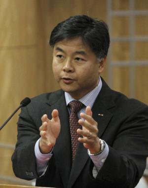 State Sen. Ted Lieu, D-Torrance urged lawmakers to approve his bill  to ban a controversial form of psychotherapy aimed at making gay people straight during a hearing at the Capitol in Sacramento, Calif., Tuesday,  May 8, 2012.  The bill, SB1172 which would prohibit so-called reparative therapy for minors and obligate adults to sign a release form stating that the counseling is ineffective and possibly dangerous, was passed by the Senate Judiciary committee 3-1. (AP Photo/Rich Pedroncelli)