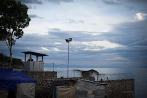 A view from a UN base on the edge of Lake Kivu in the …
