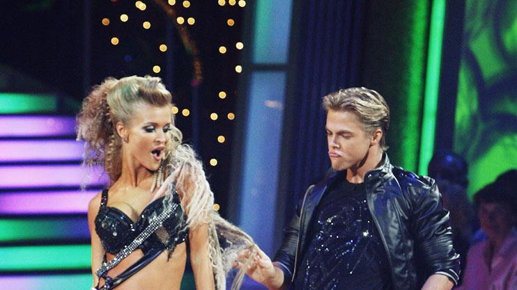 "Joanna Krupa and Derek Hough perform the Jive to ""What I Like About You"" by The Romantics on ""Dancing with the Stars."""