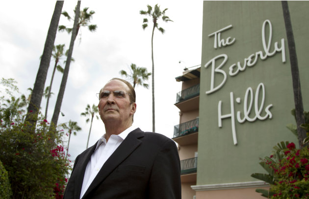 "In this April 25, 2012 photo, Robert S. Anderson, author and Beverly Hills Hotel historian, poses for a portrait in front of the Beverly Hills Hotel in Beverly Hills, Calif.  Anderson's book ""The Beve"