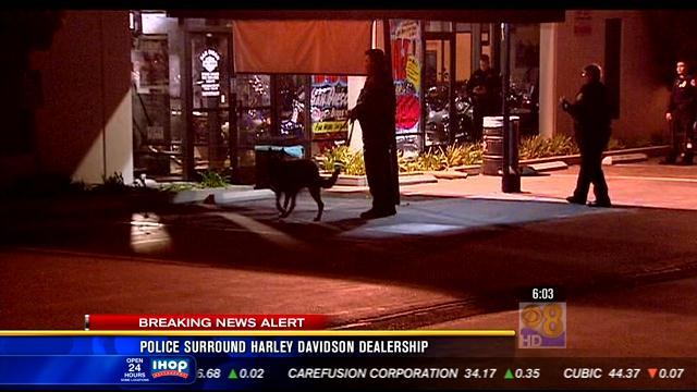 Police investigate robbery at Harley Davidson Dealership