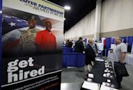 File picture shows a veterans job fair in Utah. The United States added a scant 69,000 jobs in May and the unemployment rate rose for the first time in almost a year, the government said Friday in a report spelling more trouble for President Barack Obama's reelection