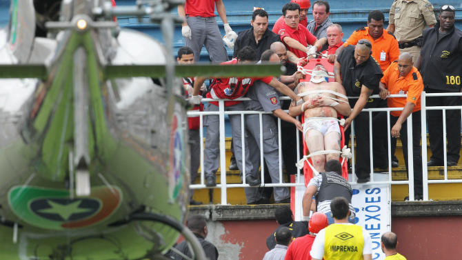 Brazilian club gets 12-match home ban for violence
