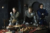 David Oakes, Max Irons and Aneurin Barnard in the Starz series &#39;The White Queen&#39;