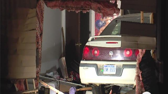 Car smashes through apartment wall in Ann Arbor