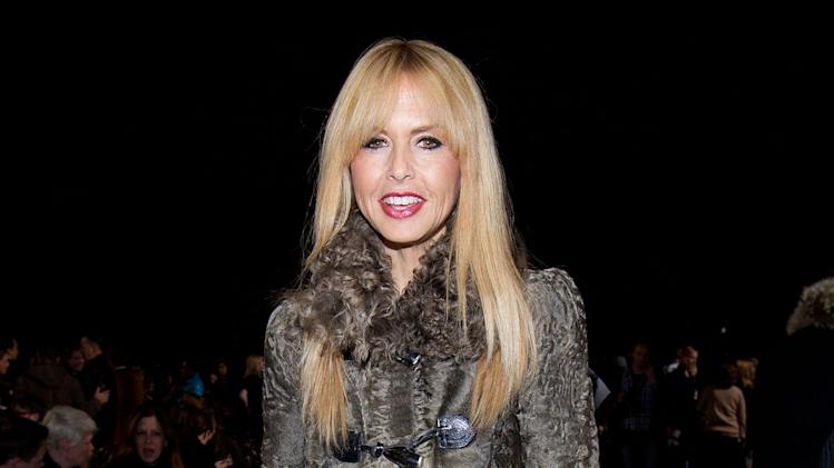 Rachel Zoe attends the Fall 2013 Tommy Hilfiger Runway Show, on Sunday, Feb. 10, 2013 in New York. (Photo by Dario Cantatore/Invision/AP)
