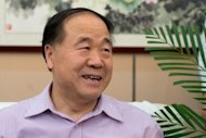 Chinese author Mo Yan at a hotel in Gaomi, in eastern China's Shandong province on October 12, 2012. The Chinese city of Gaomi hopes to cash in on the success of its most famous resident Mo Yan, by investing millions in a tourist zone dedicated to the writer, Chinese media said