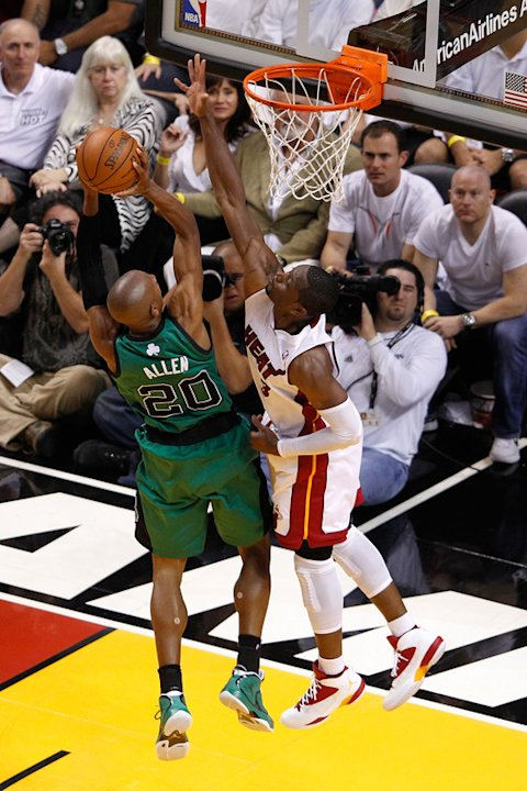 Ray Allen #20 Of The Boston Celtics Drives Getty Images