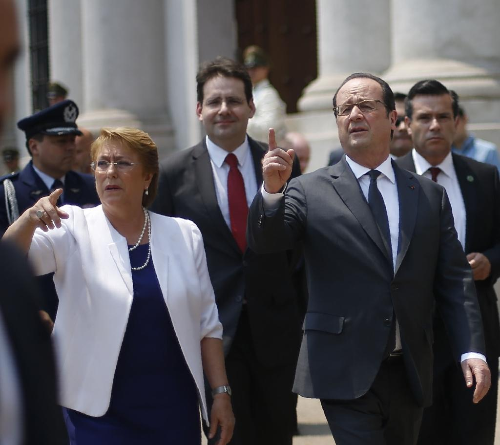 French president warns against protectionism on Latin American visit