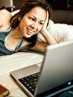 Working on your laptop in bed is a recipe for a bad night's sleep.