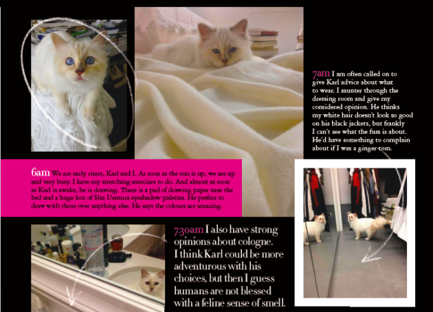 Karl Lagerfeld Reveals His Personal Photos Of Choupette EXCLUSIVELY For Grazia's Big Fashion Issue!