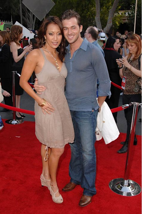 Carrie Ann Inaba and Artem Chigvintsev at the &quot;Pirates of the Caribbean: At World's End&quot; World Premiere. 