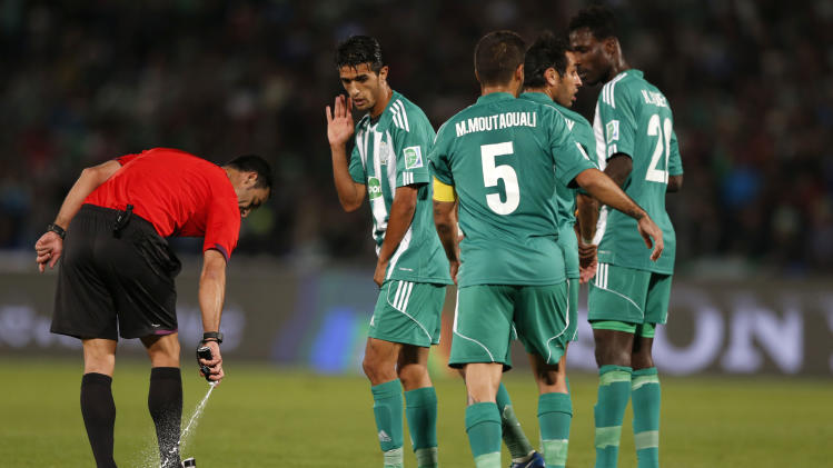 Vanishing spray joins goal technology at World Cup