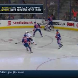 Nail Yakupov Hit on Dmitrij Jaskin (01:05/1st)