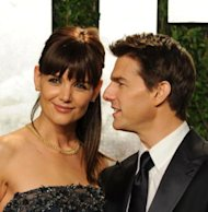 Katie Holmes y Tom Cruise via WireImage