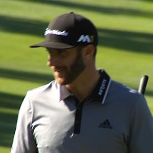 Dustin Johnson gets up and down for birdie at AT&T Pebble Beach