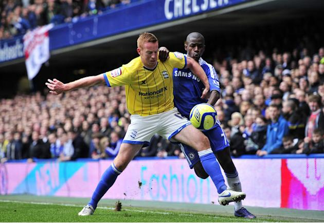 Birmingham City's Irish Striker Adam Rooney (L) Vies With Chelsea's Brazilian Midfielder Ramires (R)   RESTRICTED TO AFP/Getty Images
