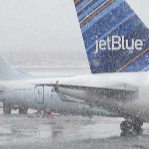 Flights canceled, travel bans in effect ahead of blizzard