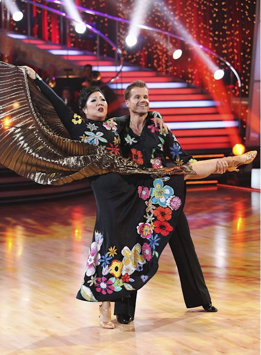 Margaret Cho and Louis Van Amstel perform on &quot;Dancing with the Stars.&quot; 