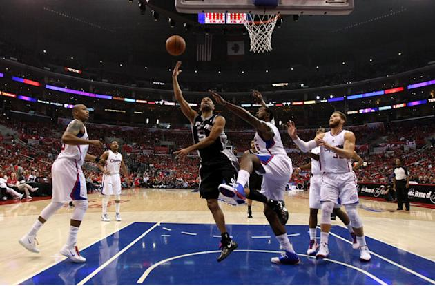 Tony Parker #9 Of The San Antonio Spurs Shoots Getty Images