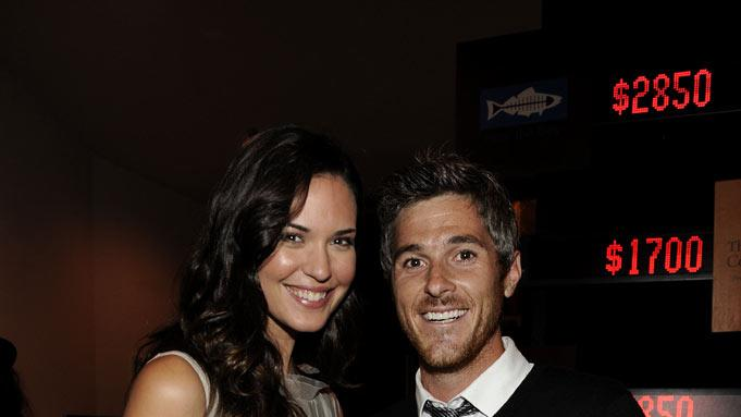 "Odette Annable of ""House"" and husband Dave Annable at the 2011 Fox Fall Eco-Casino Party at The BookBindery on September 12, 2011 in Culver City, California."