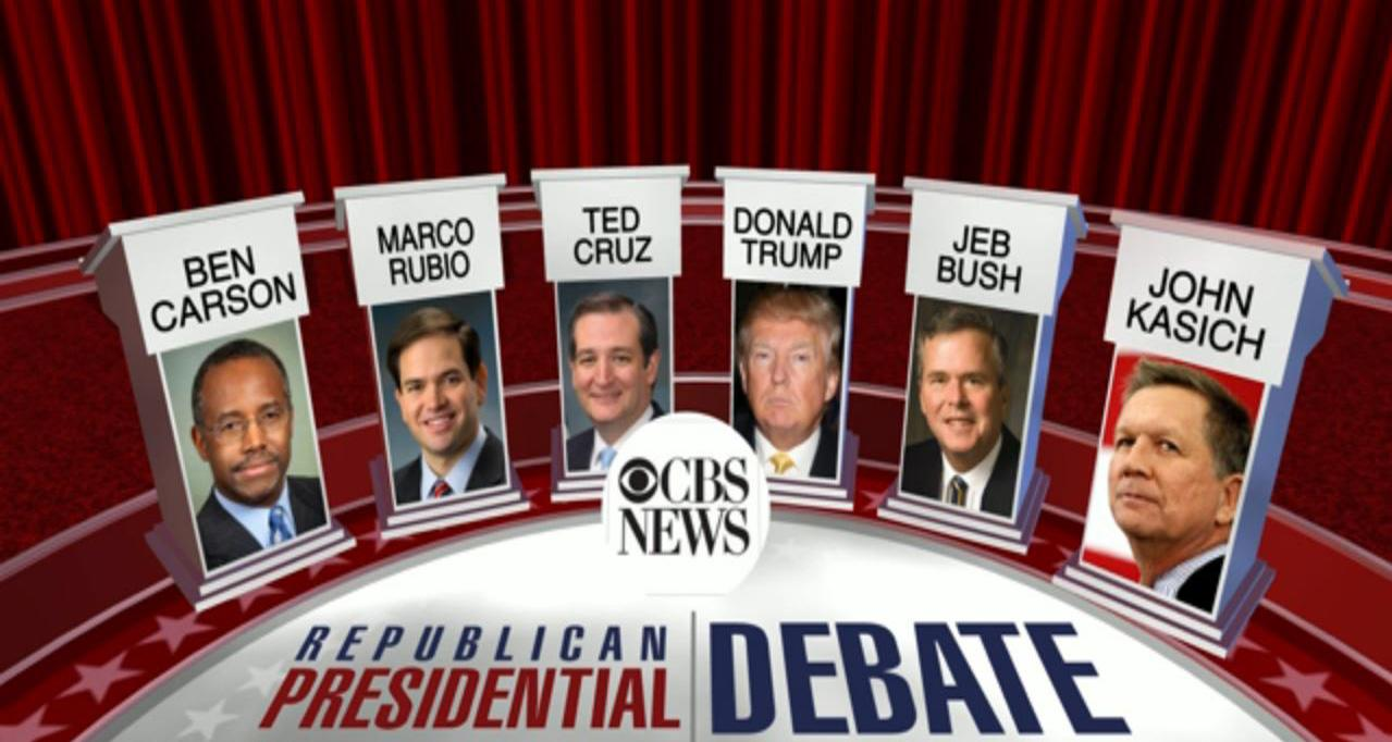 GOP Debate Musical Chairs Ends: All New Hampshire Survivors Make CBS Stage