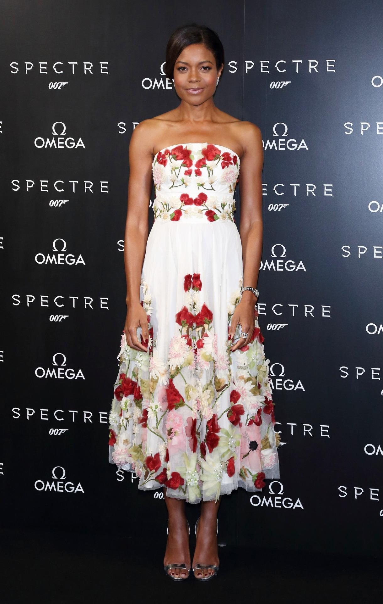 Naomie Harris Starts The Week In Style, In Enchanting Floral Dress