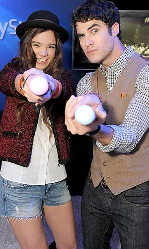 Hailee Steinfeld goofed around with Darren Criss. Jordan Strauss/WireImage.com
