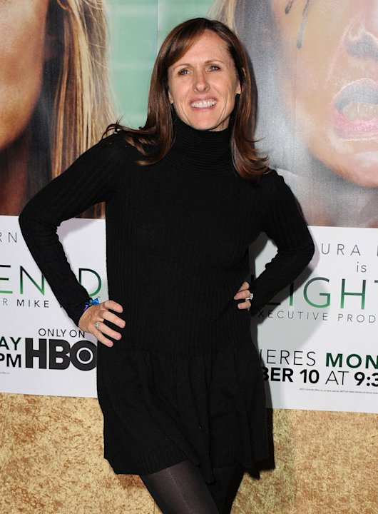 "Molly Shannon arrives at the premiere of HBO's ""Enlightened&quot at Paramount Theater on October 6, 2011 in Hollywood, California."