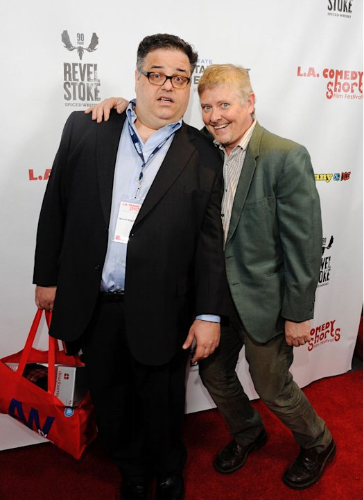 David Higgins and Dave Foley attend the L.A. Comedy Shorts Film Festival Opening and Celebrity Karaoke After-Party at Downtown Independent Theatre on April 7, 2011 in Los Angeles, California.