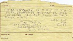 Note from Tim Taylor, age 13